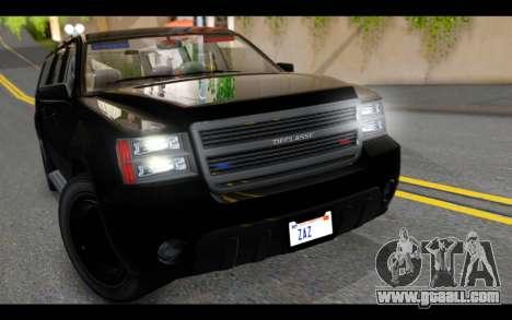 GTA 5 Declasse Granger FIB IVF for GTA San Andreas back view