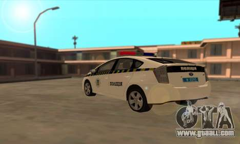 Toyota Prius Police Of Ukraine for GTA San Andreas back left view