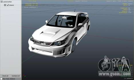 GTA 5 2011 Subaru Impreza STI right side view