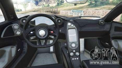 GTA 5 McLaren P1 2015 rear right side view