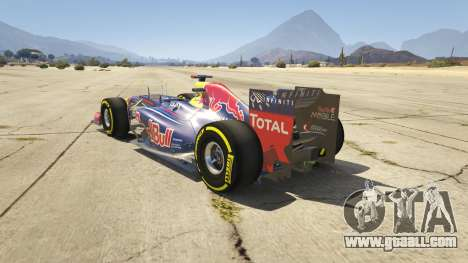 GTA 5 Red Bull F1 v2 redux rear left side view