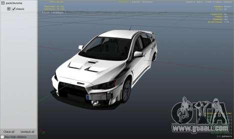 GTA 5 Mitsubishi Lancer Evolution X FQ-400 v2 wheel