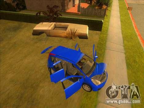 Nissan Note v0.5 Beta for GTA San Andreas bottom view