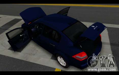 Renault Megane Sedan for GTA San Andreas bottom view
