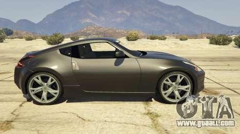 GTA 5 Nissan 370z v2.0 left side view