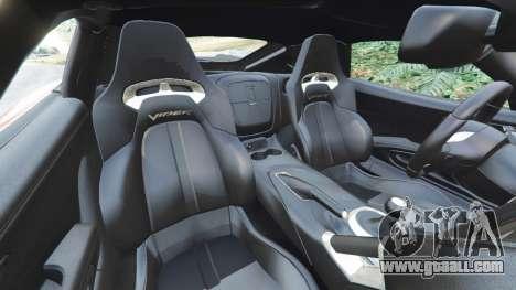 Dodge Viper SRT 2014 for GTA 5