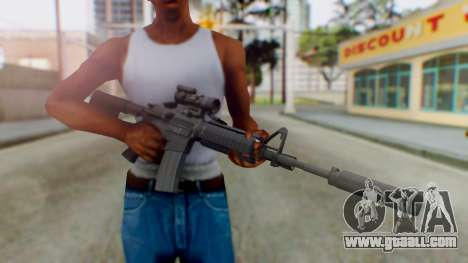 Arma Armed Assault M4A1 Aimpoint Silenced for GTA San Andreas third screenshot