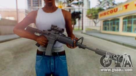 Arma Armed Assault M4A1 Aimpoint Silenced for GTA San Andreas third screenshot
