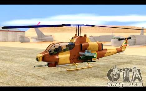 AH-1W IRIAF SuperCobra for GTA San Andreas left view