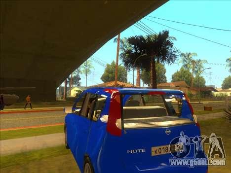 Nissan Note v0.5 Beta for GTA San Andreas inner view