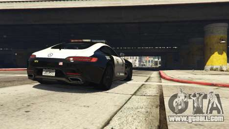 GTA 5 LAPD Mercedes-Benz AMG GT 2016 back view