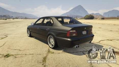 GTA 5 BMW M5 E39 1.1 rear left side view