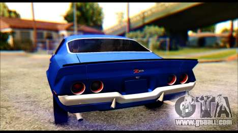 Chevrolet Camaro Z28 1970 Tunable for GTA San Andreas upper view