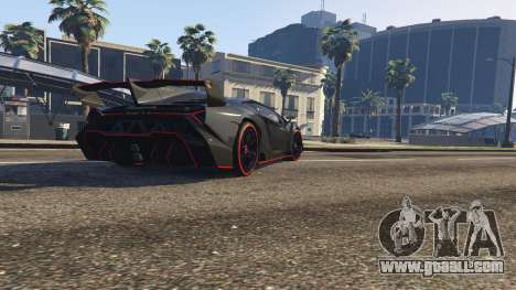 GTA 5 2013 Lamborghini Veneno HQ EDITION back view