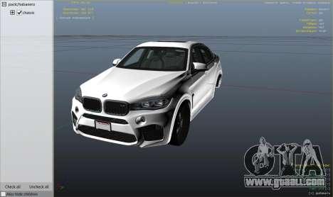 GTA 5 BMW X6M F16 Final right side view