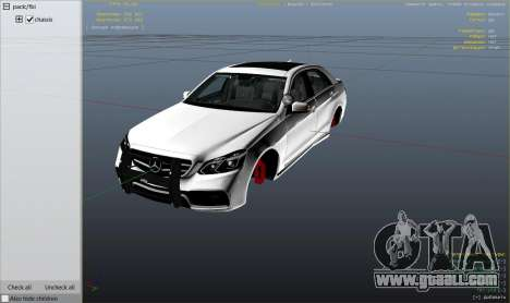 GTA 5 Mercedes-Benz E63 AMG Unmarked Cruiser right side view