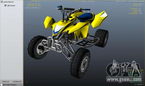 GTA 5 2009 Suzuki LTR 450 right side view