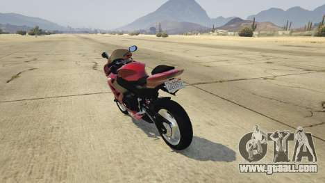 GTA 5 Suzuki Srad 750 rear left side view