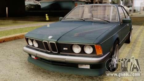 BMW M635 E24 CSi 1984 Stock for GTA San Andreas