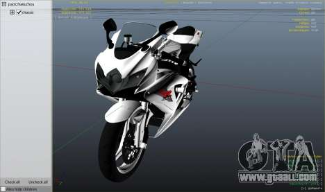 GTA 5 Suzuki Srad 750 right side view