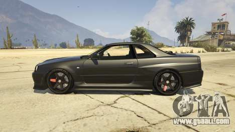 GTA 5 Nissan Skyline GTR R34 left side view