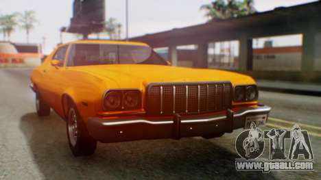 Ford Gran Torino 1974 for GTA San Andreas back left view