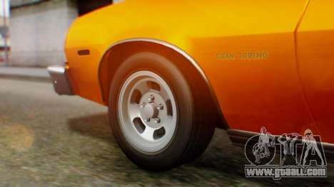 Ford Gran Torino 1974 for GTA San Andreas back view