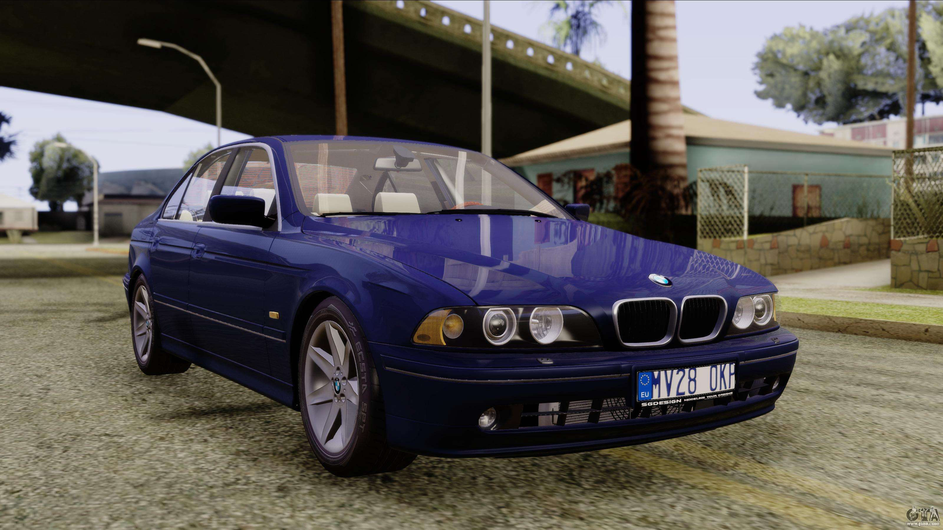 bmw 530d e39 2001 stock for gta san andreas. Black Bedroom Furniture Sets. Home Design Ideas