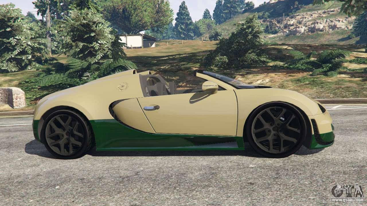 bugatti veyron grand sport vitesse for gta 5. Black Bedroom Furniture Sets. Home Design Ideas