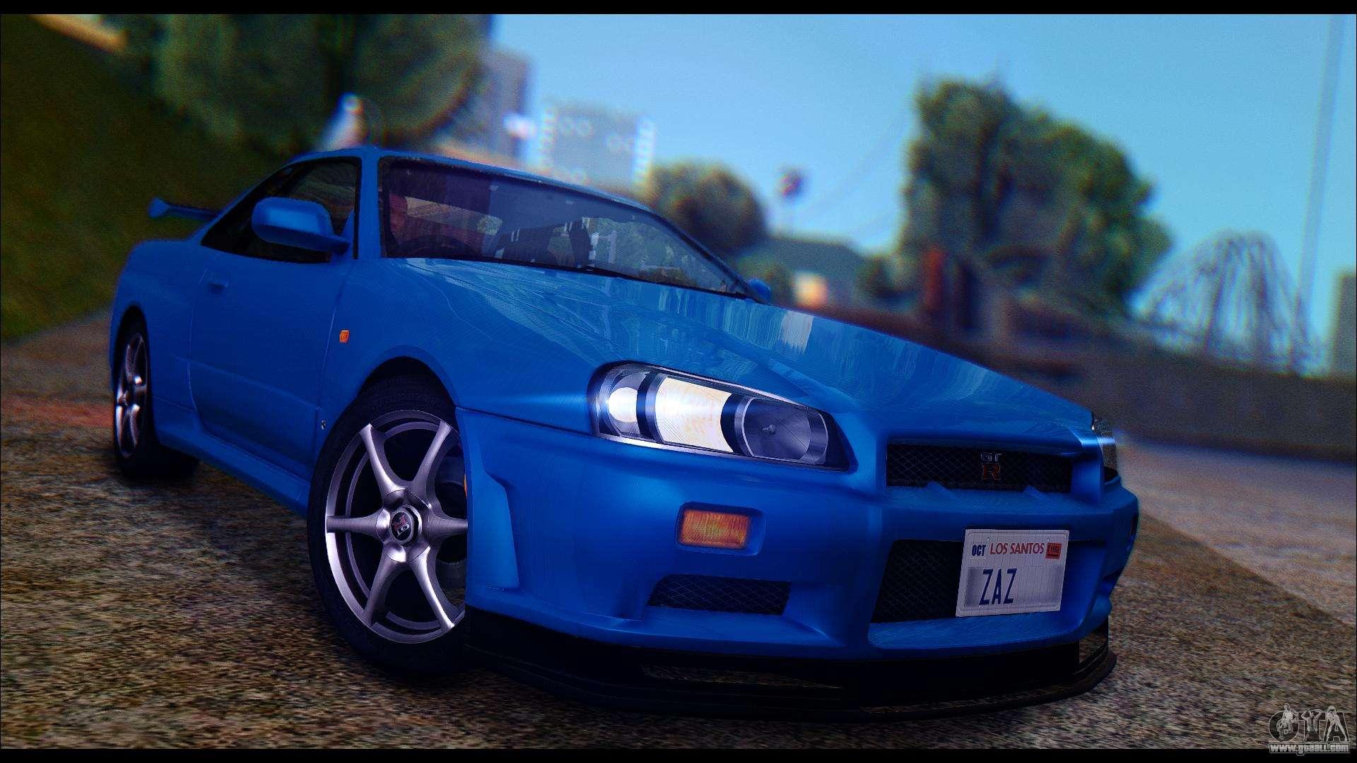 Nissan Skyline Gtr 1999 >> Nissan Skyline R 34 Gt R V Spec 1999 Tunable For Gta San Andreas