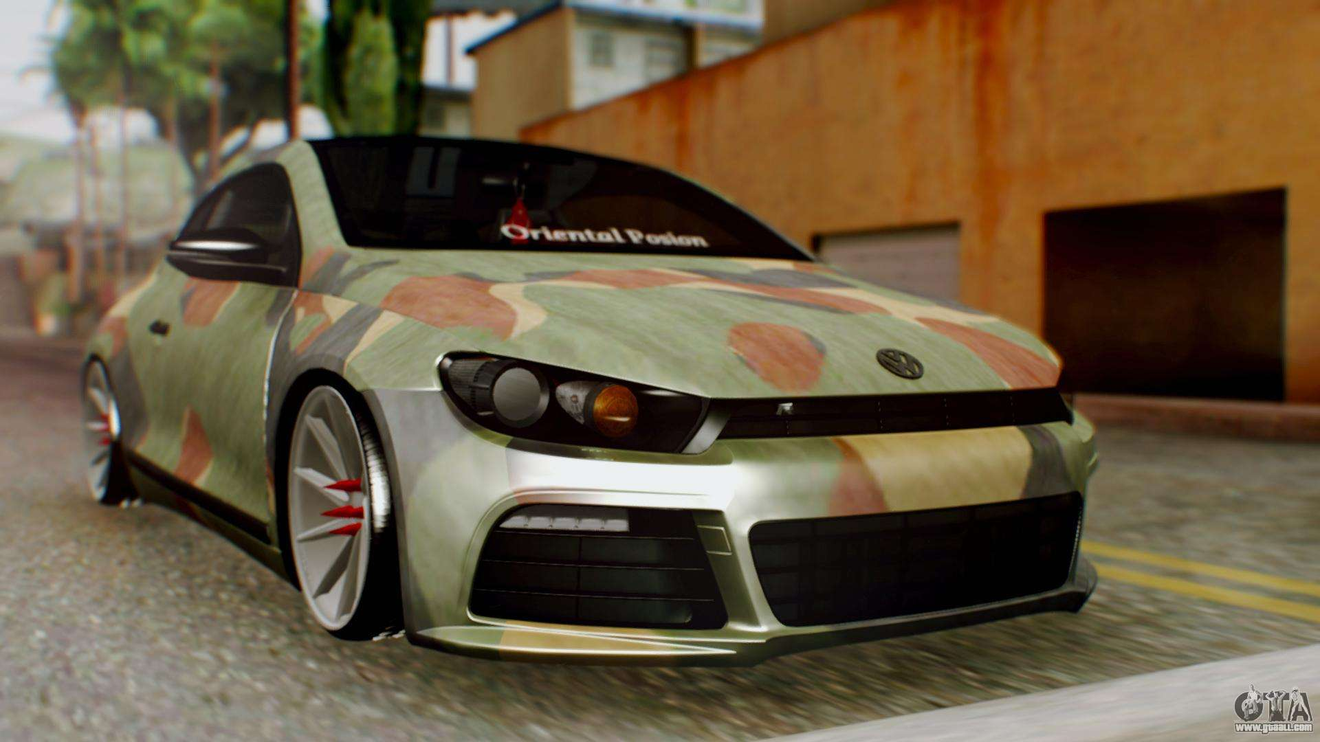 volkswagen scirocco r army edition for gta san andreas. Black Bedroom Furniture Sets. Home Design Ideas