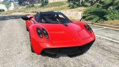 Pagani Huayra 2013 v1.1 [black and red rims] for GTA 5