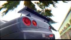Nissan Skyline R-34 GT-R V-spec 1999 Tunable for GTA San Andreas