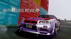Nissan Skyline R34 Stance Nico Yazawa Itasha for GTA San Andreas