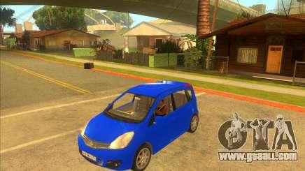 Nissan Note v0.5 Beta for GTA San Andreas