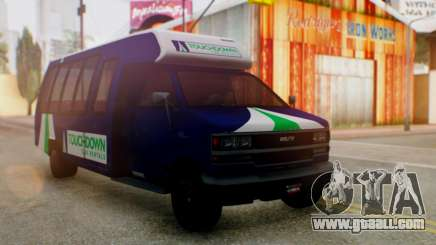 GTA 5 Rental Shuttle Bus Touchdown Livery for GTA San Andreas
