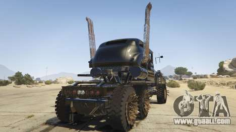 GTA 5 Mad Max The War Rig rear left side view