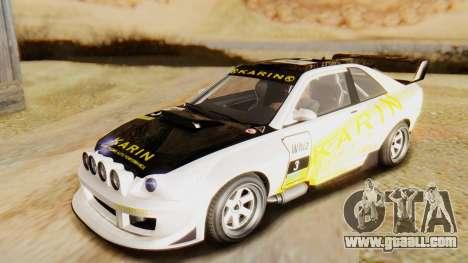 GTA 5 Karin Sultan RS for GTA San Andreas inner view