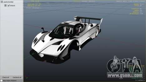 GTA 5 Pagani Zonda R v1.0 right side view
