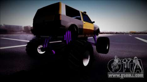 Club Monster Truck for GTA San Andreas left view