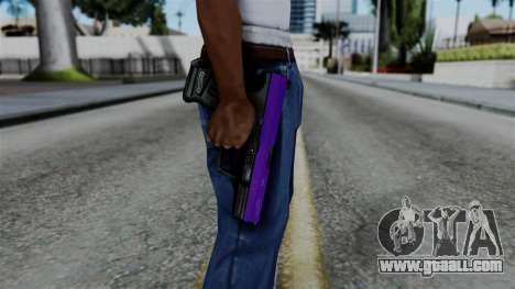 Purple Desert Eagle for GTA San Andreas third screenshot
