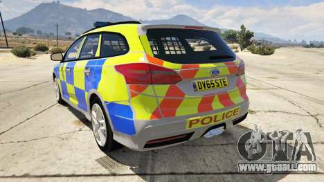 GTA 5 2015 Police Ford Focus ST Estate rear left side view