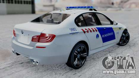 BMW M5 F10 Hungarian Police Car for GTA San Andreas left view
