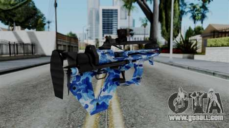 CoD Black Ops 2 - PDW-57 Camo Blue for GTA San Andreas second screenshot