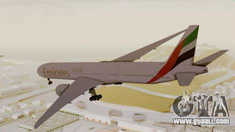 Boeing 777-9x Emirates Airlines for GTA San Andreas left view