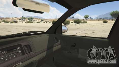 GTA 5 Ford Crown Victoria Detective rear right side view