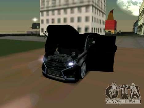 Lada Vesta 2016 for GTA San Andreas left view