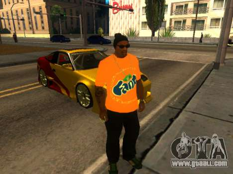 T-Shirt Fanta for GTA San Andreas second screenshot
