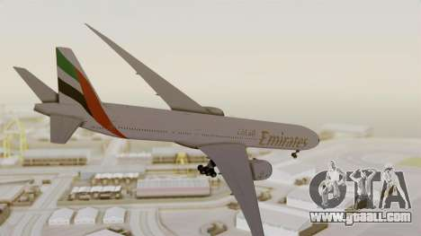 Boeing 777-9x Emirates Airlines for GTA San Andreas right view