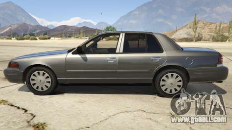 GTA 5 Ford Crown Victoria Detective left side view